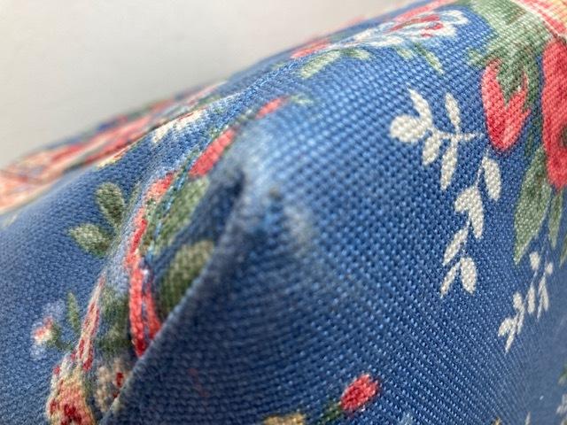 ※11398 CATH KIDSTON 大型 ラージトートバッグ ブルー系 花柄 レディース キャスキッドソン USED_画像10