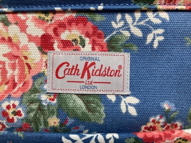 ※11398 CATH KIDSTON 大型 ラージトートバッグ ブルー系 花柄 レディース キャスキッドソン USED_画像3