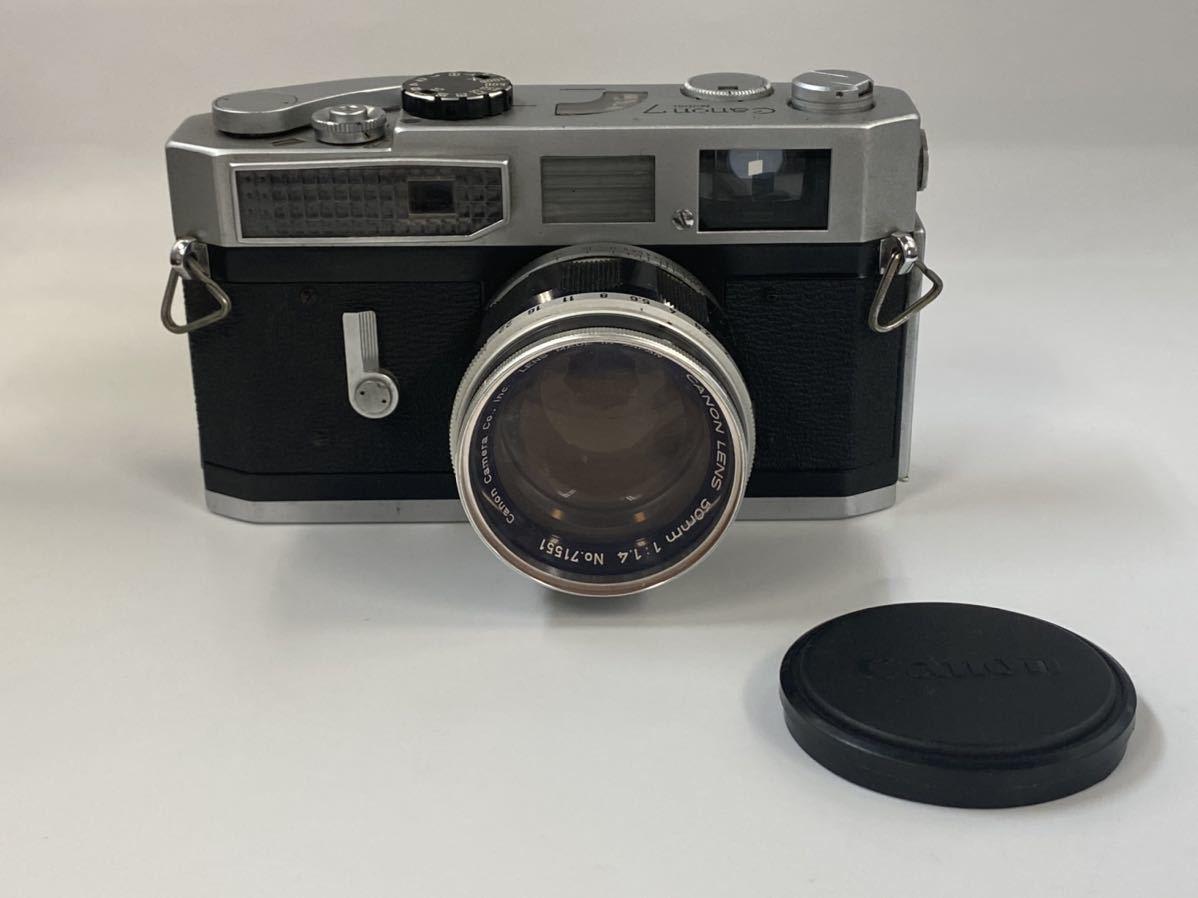 1円スタート Canon キャノン MODEL7 一眼レフ フィルムカメラ CANON LENS 50mm 1:1.4