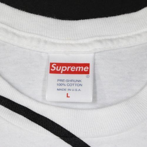 Supreme シュプリーム 20AW Smurfs Tee スマーフ Tシャツ L ホワイト_画像4