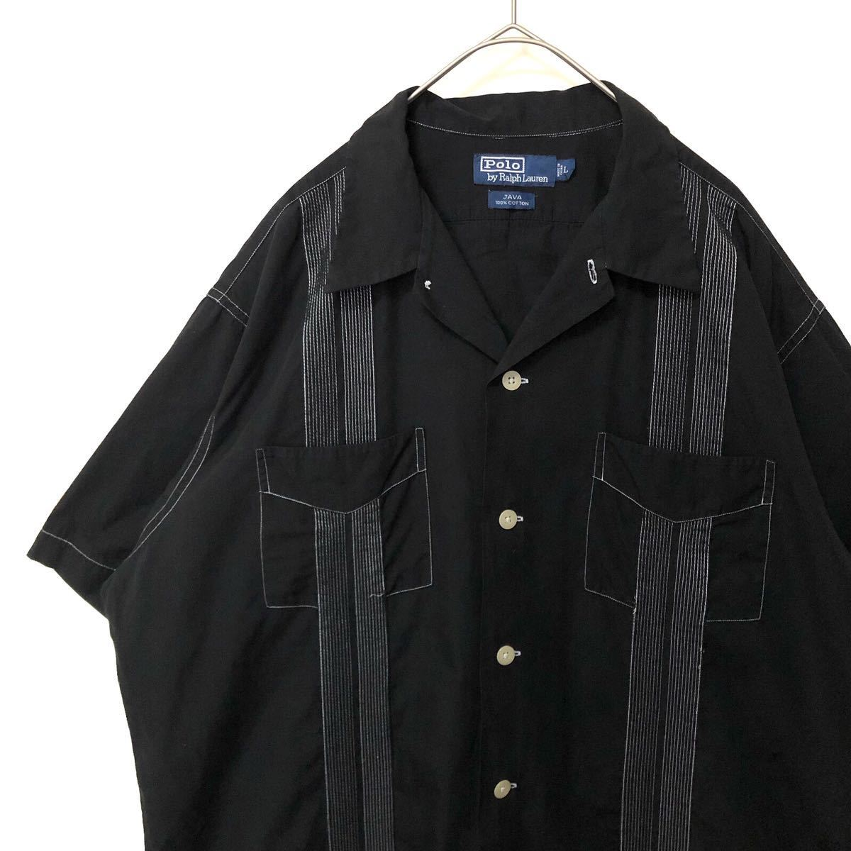 Polo by Ralph Lauren キューバシャツ オープンカラー シャツ Java clayton Caldwell 90s 80s polo country RRL ヴィンテージ ボックス