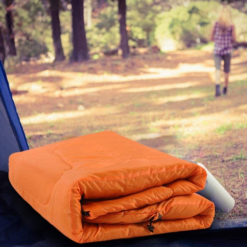 封筒型寝袋 キャンプ 軽量 保温 簡単収納シュラフ 1.35kg 防水