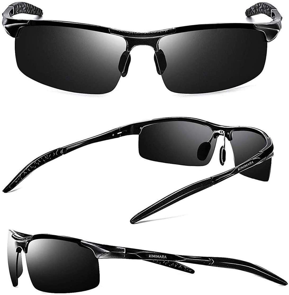 超抗衝撃 紫外線カット スポーツサングラス 落下防止 UV400 男女兼用