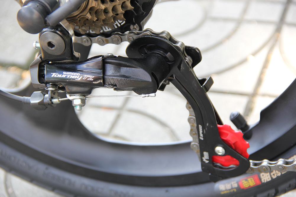 3WAY 20インチ折りたたみ式電動バイク 最大時速25キロ 電力5速調整 外装SHIMANO 7段変速 36V 350W 10AH Dブレーキ LEDライト搭載 USB充電可_画像8