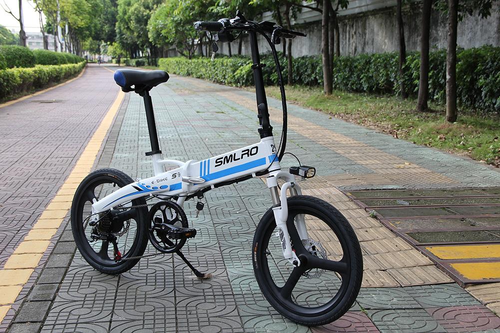 3WAY 20インチ折りたたみ式電動バイク 最大時速25キロ 電力5速調整 外装SHIMANO 7段変速 36V 350W 10AH Dブレーキ LEDライト搭載 USB充電可_画像2
