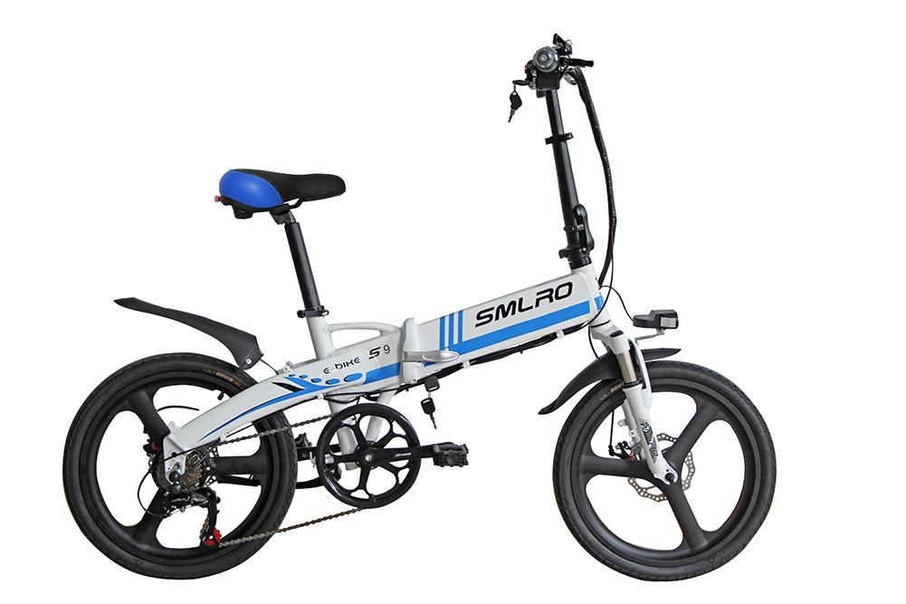3WAY 20インチ折りたたみ式電動バイク 最大時速25キロ 電力5速調整 外装SHIMANO 7段変速 36V 350W 10AH Dブレーキ LEDライト搭載 USB充電可_画像1