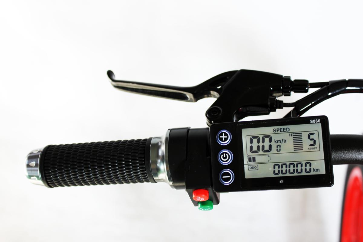 3WAY 20インチ折りたたみ式電動バイク 最大時速25キロ 電力5速調整 外装SHIMANO 7段変速 36V 350W 10AH Dブレーキ LEDライト搭載 USB充電可_画像5