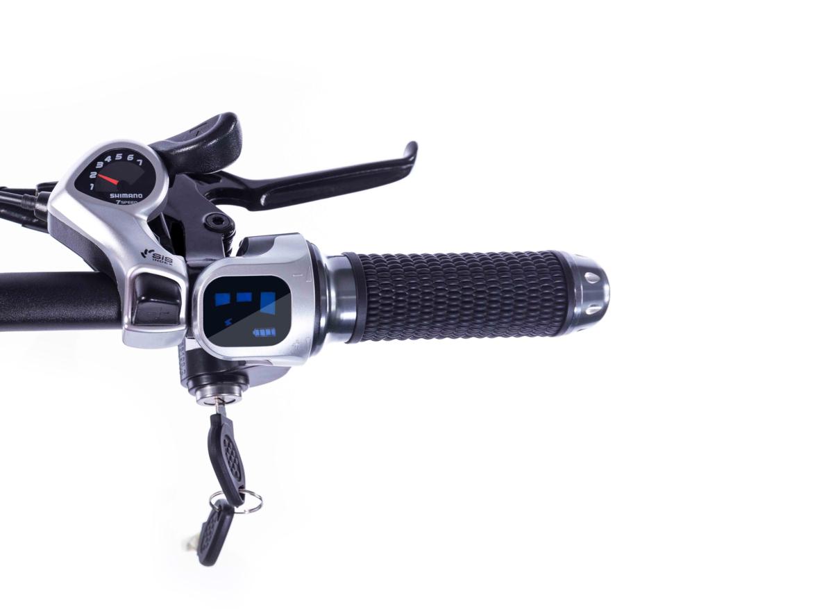 3WAY 20インチ折りたたみ式電動バイク 最大時速25キロ 電力5速調整 外装SHIMANO 7段変速 36V 350W 10AH Dブレーキ LEDライト搭載 USB充電可_画像4