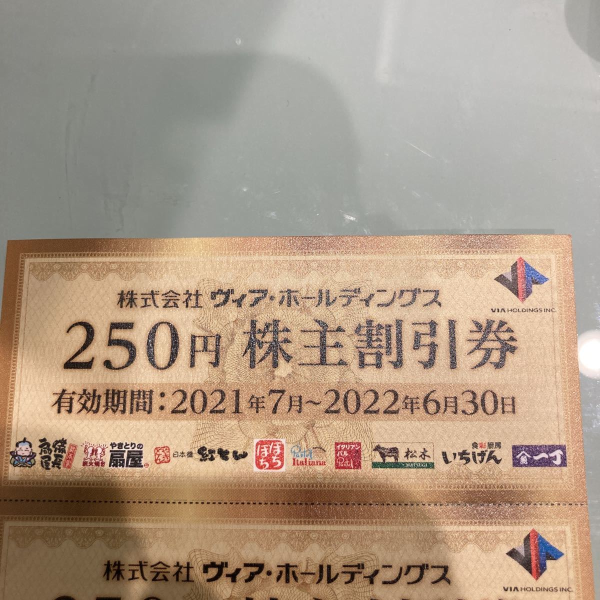 ヴィア・ホールディングス 株主優待 ヴィアホールディングス 250円株主割引券_画像1
