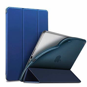 ネイビーブルー ESR iPad Mini 5 2019 ケース 軽量 薄型 PU レザー スマート カバー 耐衝撃 傷防止 ソ_画像1