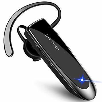 黒 Link Dream Bluetooth ワイヤレス ヘッドセット V4.1 片耳 日本語音声 マイク内蔵 ハンズフリー通話_画像1