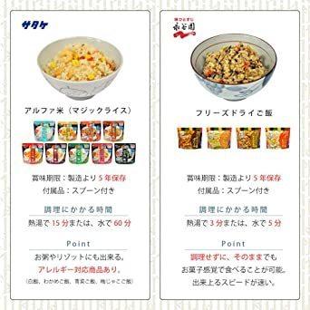 新品防災専門店MT-NET 非常食 5年保存 【 永谷園 フリーズドライご飯 4種 × サ^ケ マジックMOUJ_画像4