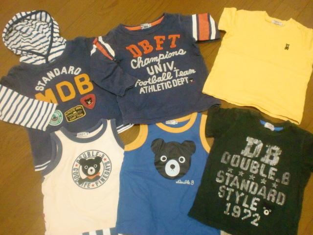 ☆美品あり☆すべてDOUBLE.B Tシャツ、タンクトップ 6点セット サイズ100cm かっこ