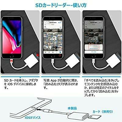 iPhone Lightning iPad ライトニング SDカードリーダー