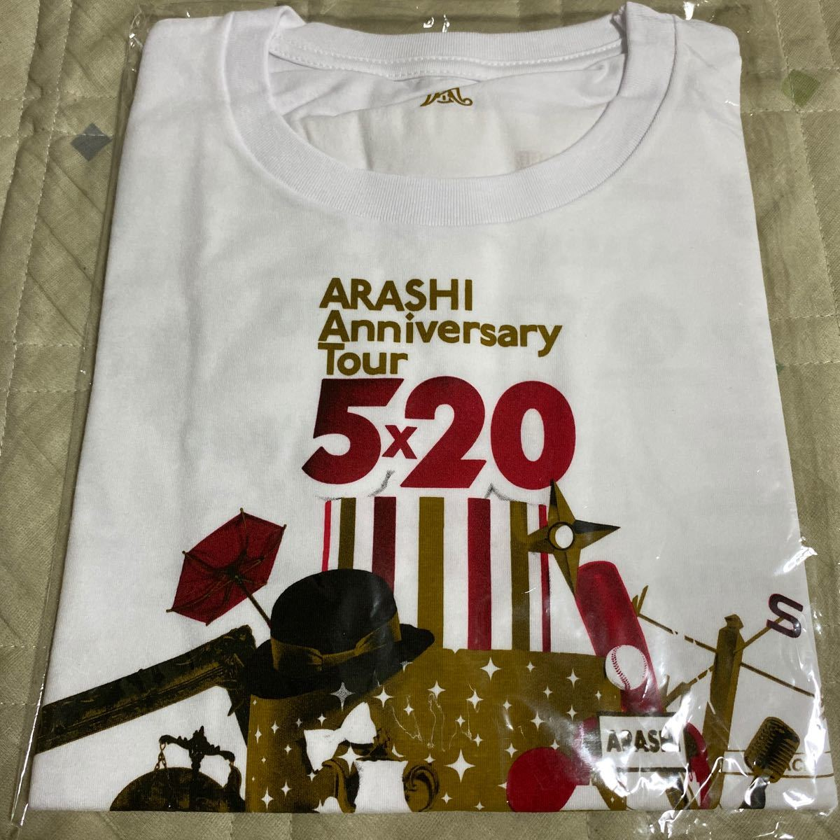 嵐 ARASHI Anniversary Tour 5×20 グッズ Tシャツ 【新品 未開封】