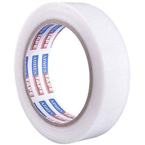 新品【未使用】【 限定ブランド】ADHES 養生テープ ガムテープ 白 透明 養生用 仮固定用 幅25mm*長さF7UC_画像2
