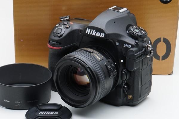 【フジヤカメラ】ジャンク品 Nikon D850 (付属品/元箱付き) & AF-S 50mm F1.4G ニコン フルサイズ デジタル一眼レフ 標準レンズセット