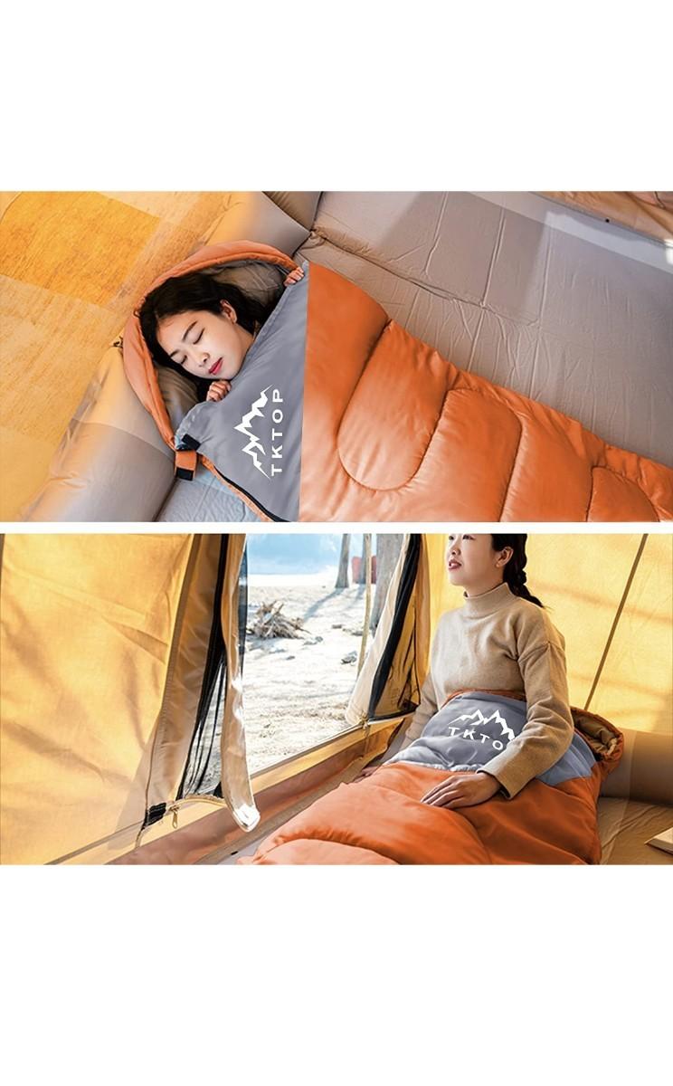 寝袋 封筒型 軽量 保温 210T防水シュラフ アウトドア キャンプ コンパクト 登山 車中泊 避難用 丸洗い可能収納パック付き