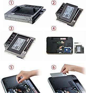 ホワイト 厚さ9.5mm WestPort 薄型光学ドライブベイ SATA to SATA 3.0 汎用 光学ドライブをHDDや_画像5