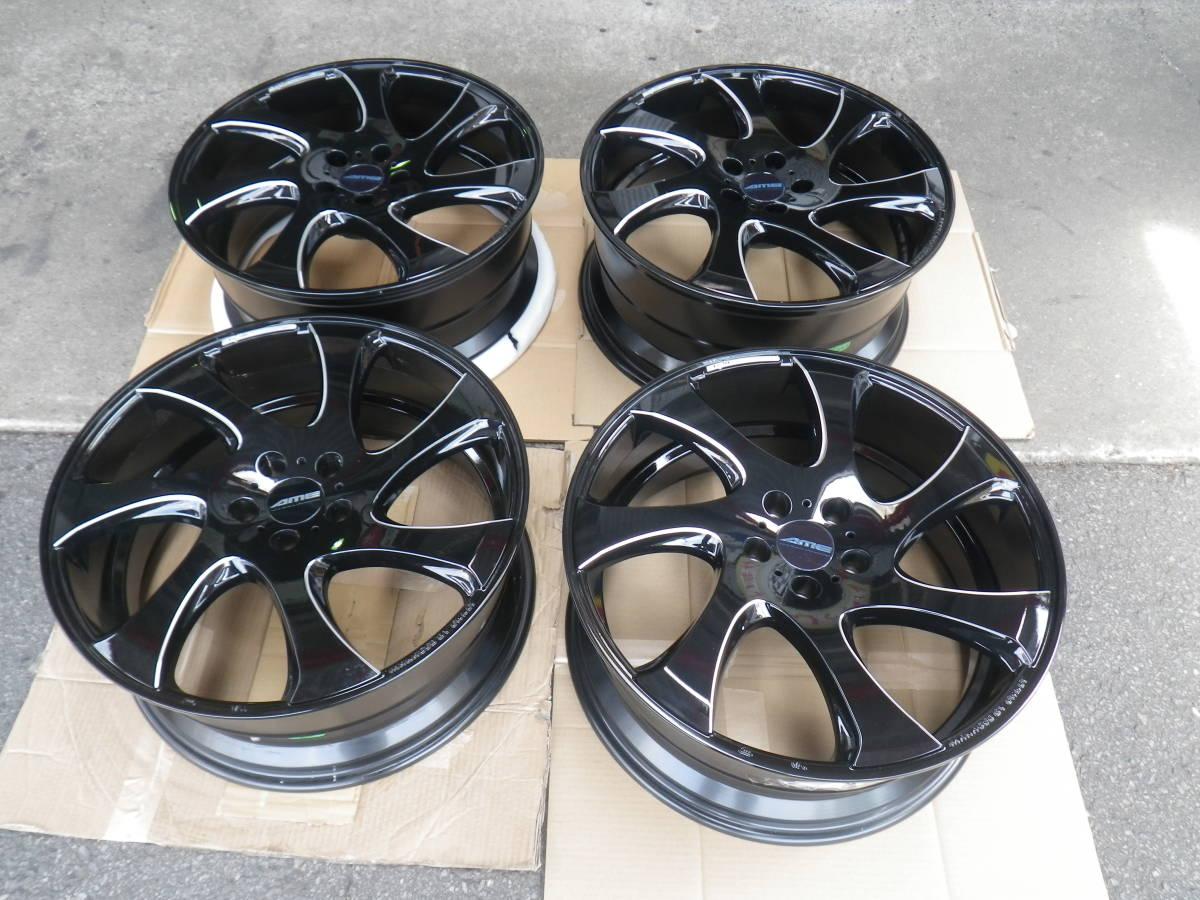 新品ホイール 4本セット AME WX MONO ブラック 8.5J×20 +38 5H/114.3 ヴェルファイア、アルファード_画像1