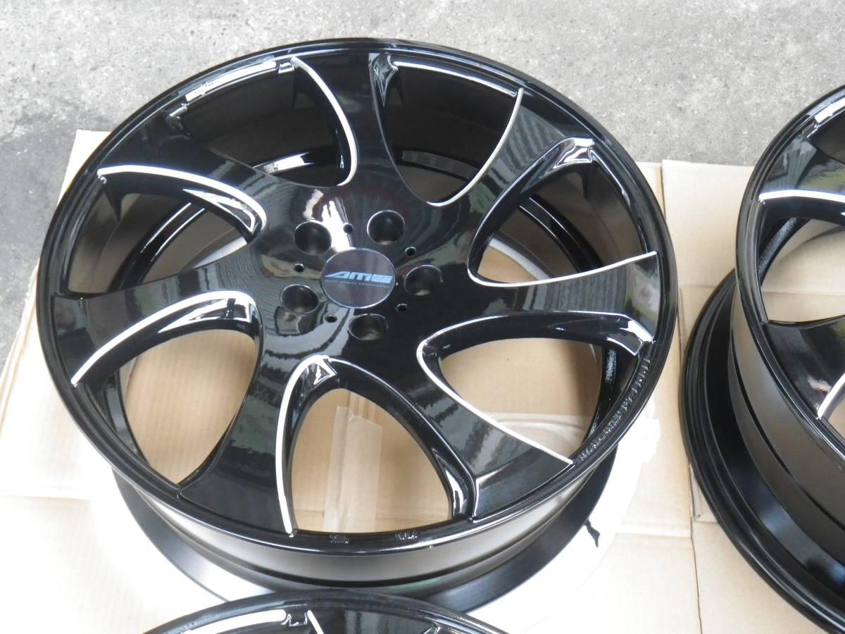 新品ホイール 4本セット AME WX MONO ブラック 8.5J×20 +38 5H/114.3 ヴェルファイア、アルファード_画像2
