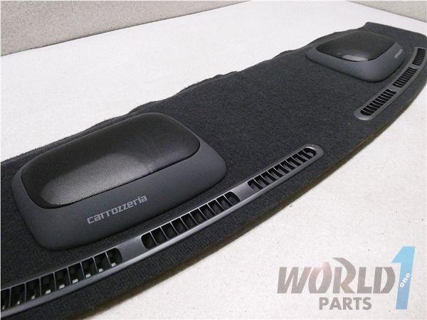 C33 ローレル 後期 純正 リア スピーカーボード 内装 黒 トノボード carrozzeria スピーカーカバー 付き 当時物 日産 NISSAN