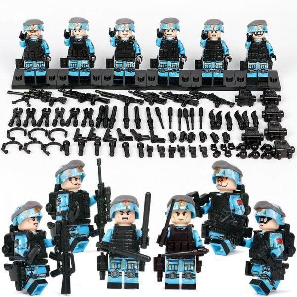 【送料無料】MOC LEGO レゴ ブロック 互換 ARMY ロシア軍特殊部隊 アンチテロ部隊 カスタム ミニフィグ 6体セット 大量武器・装備・兵器付_画像2