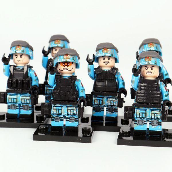 【送料無料】MOC LEGO レゴ ブロック 互換 ARMY ロシア軍特殊部隊 アンチテロ部隊 カスタム ミニフィグ 6体セット 大量武器・装備・兵器付_画像5