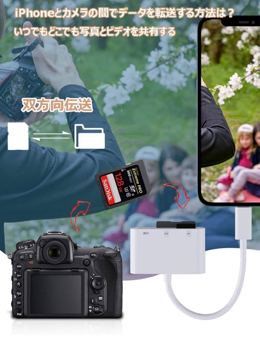 SDカードリーダー 3in1 USB  SD TFカードリーダー 高速データ転送
