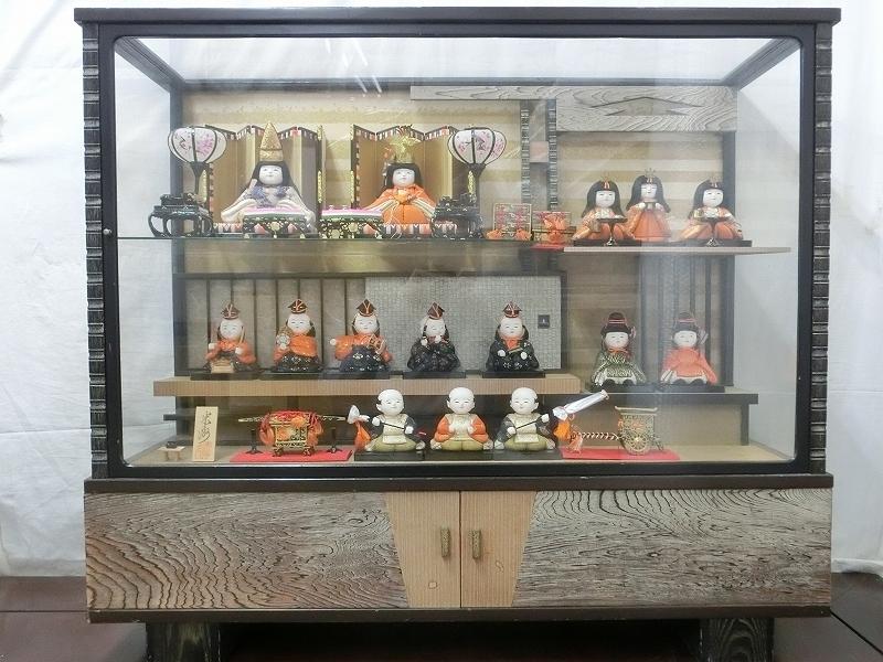 P0649 人間国宝 原米洲 雛人形 雛飾り 木目込み人形 ケース