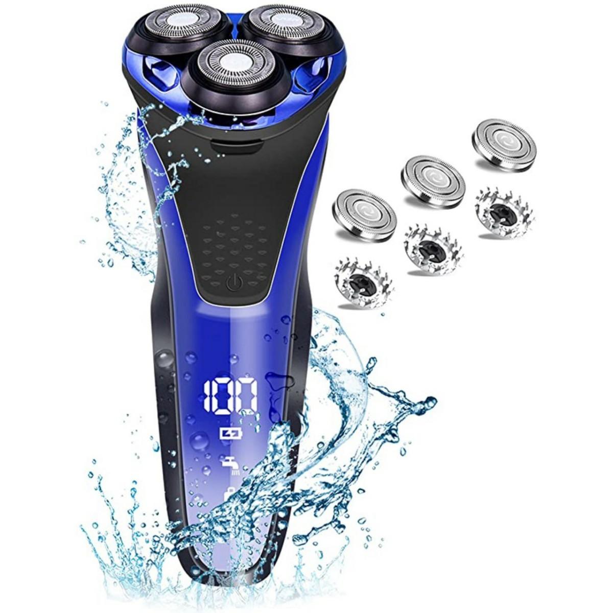 メンズシェーバー 電気シェーバー 髭剃り 回転式 3枚刃防水 LEDディスプレイ