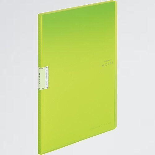 未使用 新品 ファイル コクヨ S-W5 20枚ポケット黄緑 ラ-LM20LG クリヤ-ブック MOTTE A4_画像1