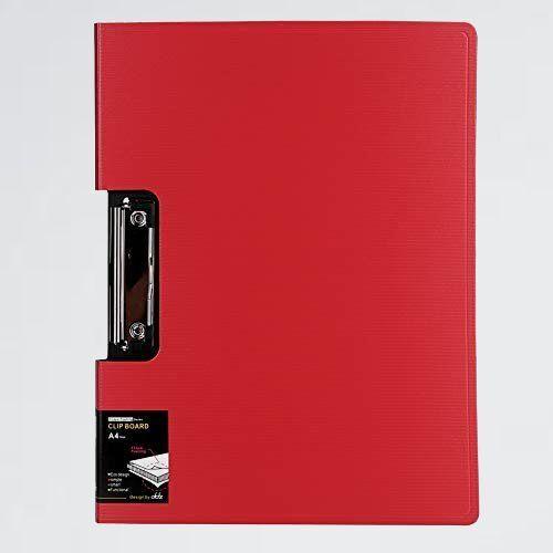 新品 目玉 a4 クリップボ-ド 6-MJ 高品質 レッド バインダ- クリップファイル 二つ折りケ-ス おしゃれ ストライプ柄 書類入れ_画像1