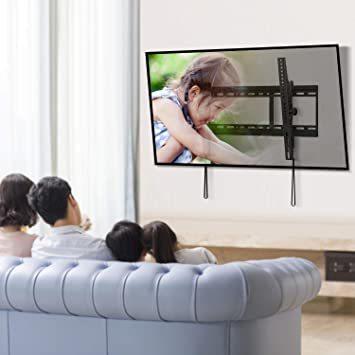 ブラック PERLESMITH テレビ壁掛け金具 37~70インチ 液晶テレビ対応 耐荷重60kg 左右移動式 角度調節可能 V_画像6