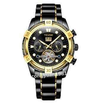 メンズ高級腕時計 46mm 機械式自動巻 カレンダー 曜日表示 トゥールビヨン 多機能 ステンレス 紳士ウォッチ カジュアル_画像1