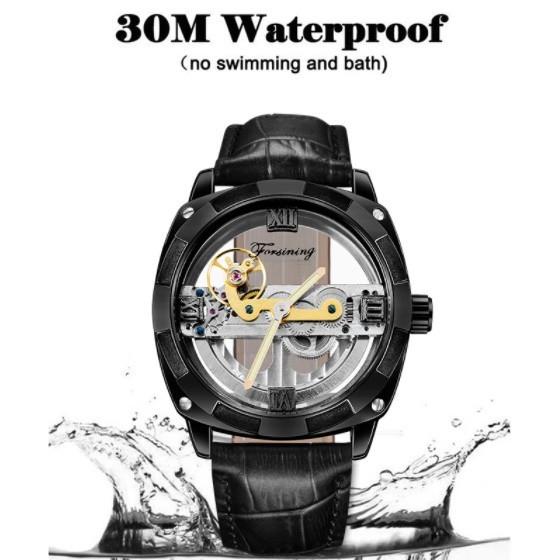 男性高級腕時計 43mm 機械式自動巻 スケルトンデザイン トゥールビヨン 本革ベルト シンプル メンズウォッチ 紳士_画像9