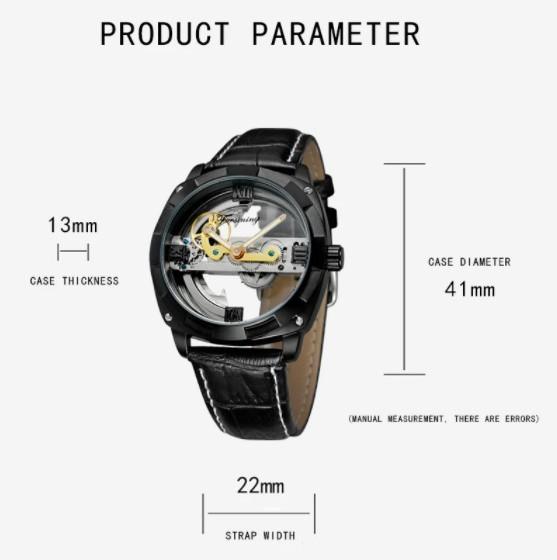 男性高級腕時計 43mm 機械式自動巻 スケルトンデザイン トゥールビヨン 本革ベルト シンプル メンズウォッチ 紳士_画像3