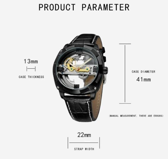 男性高級腕時計 43mm 機械式自動巻 スケルトンデザイン トゥールビヨン 本革ベルト シンプル メンズウォッチ 紳士_画像4