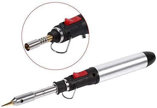 新品ハンダゴテ 電気はんだごて ガス式半田ごて メンテランス 温度調節(250℃~450℃) 機能アップ 小型電子機TCRO_画像3