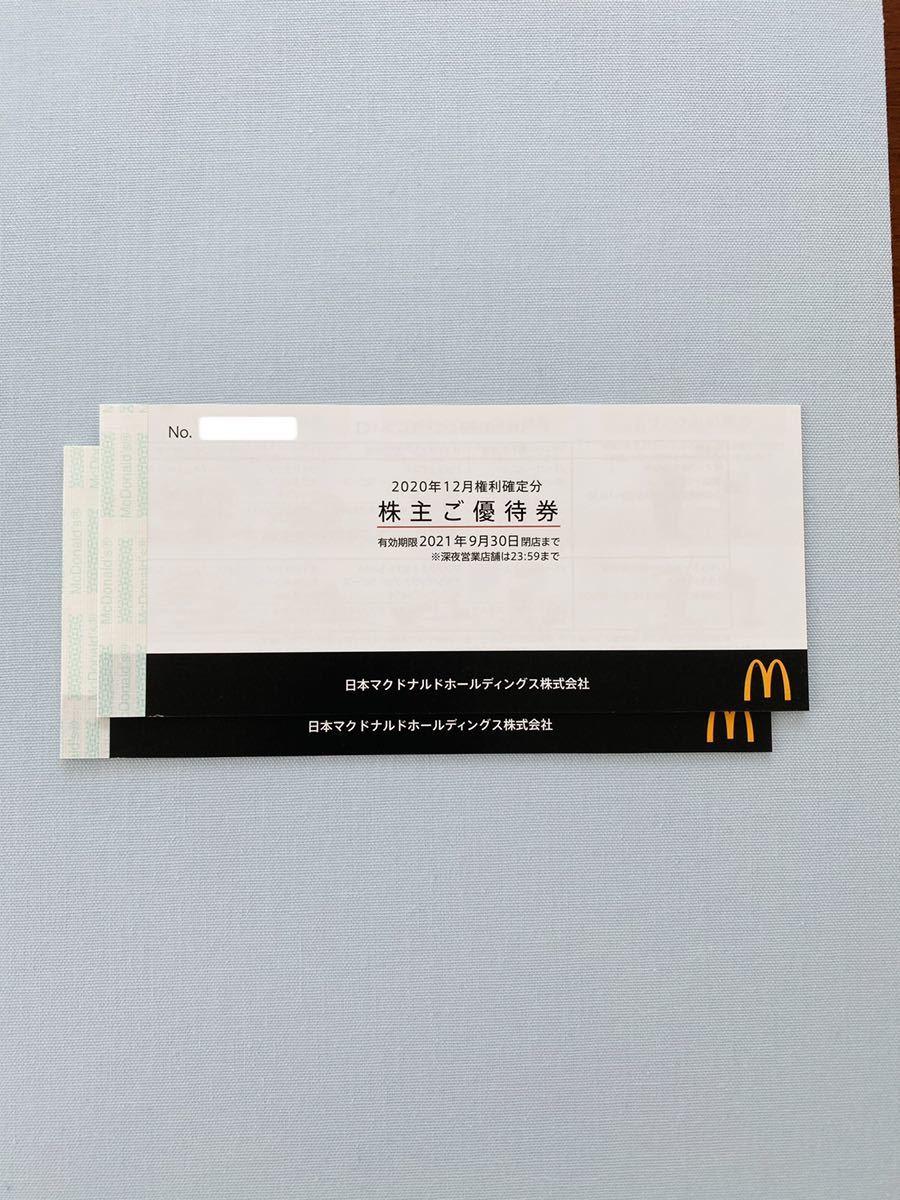 マクドナルド株主優待券(6枚綴り×2冊分)_画像1