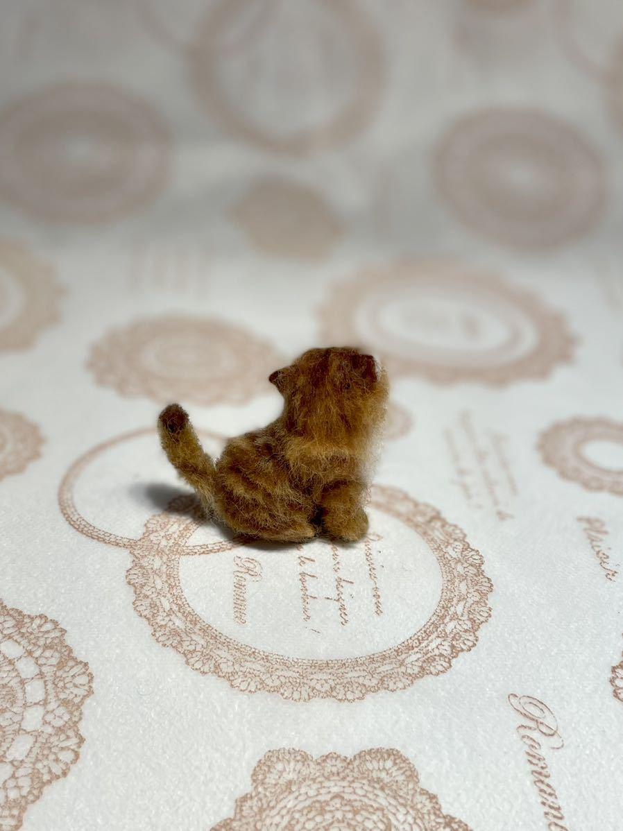 **羊毛フェルト 小さなチンチラゴールデン ペルシャ子猫 ドールハウス ハンドメイド ブライス 人形*_画像5