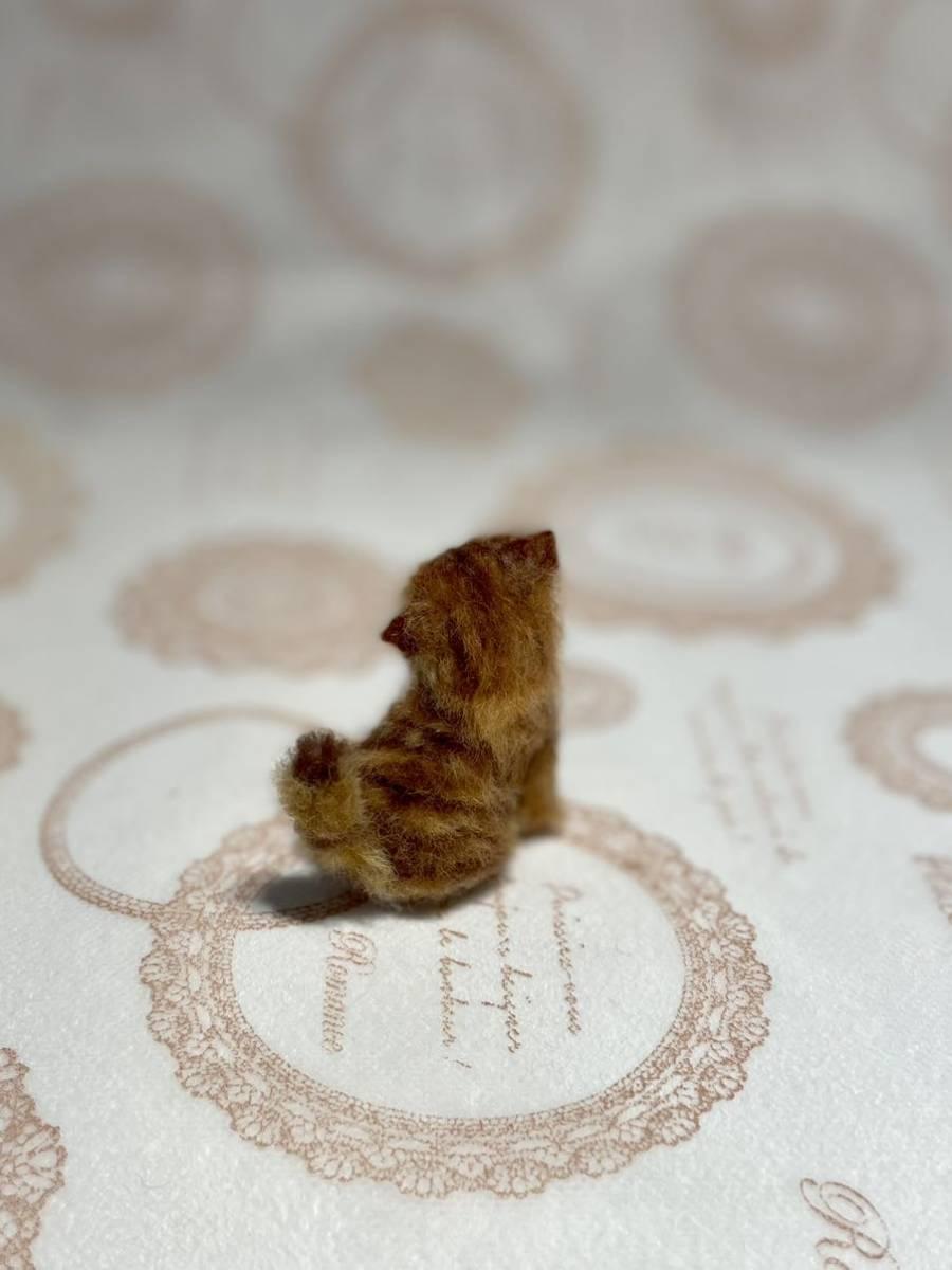 **羊毛フェルト 小さなチンチラゴールデン ペルシャ子猫 ドールハウス ハンドメイド ブライス 人形*_画像4
