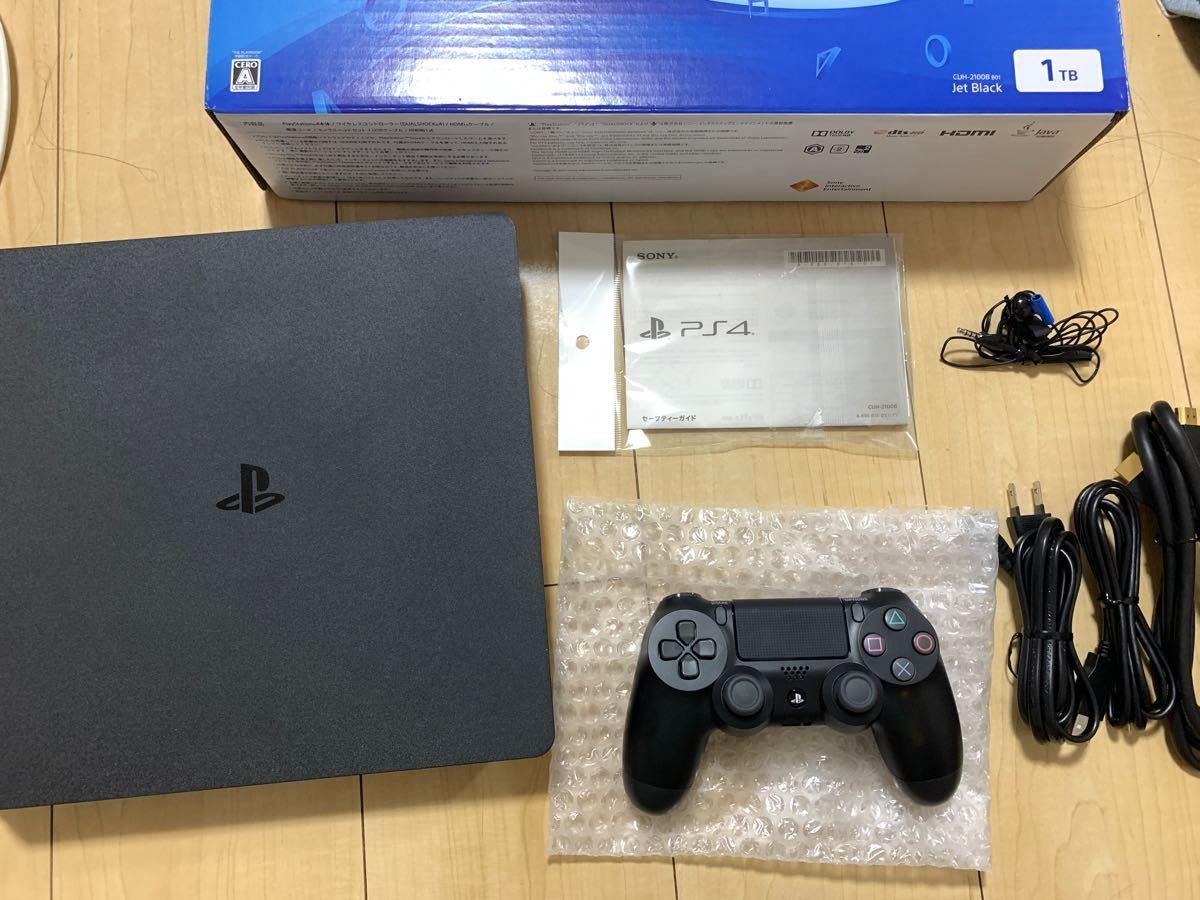 【送料無料】PlayStation4 PS4本体 ジェットブラック CUH-2100AB01 1TB