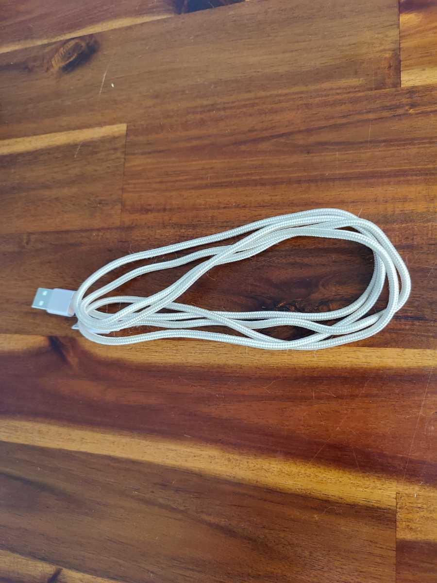 USBケーブル microUSB type-a 充電ケーブル 140cm ゴールドカラー CABLE _画像5