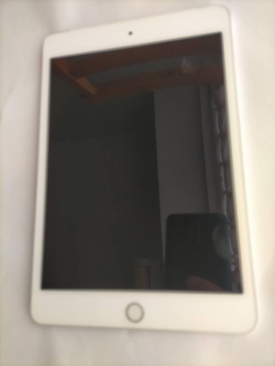 美品 iPad mini4 128gb シルバー simフリー Wi-Fi+Celluar版 docomo