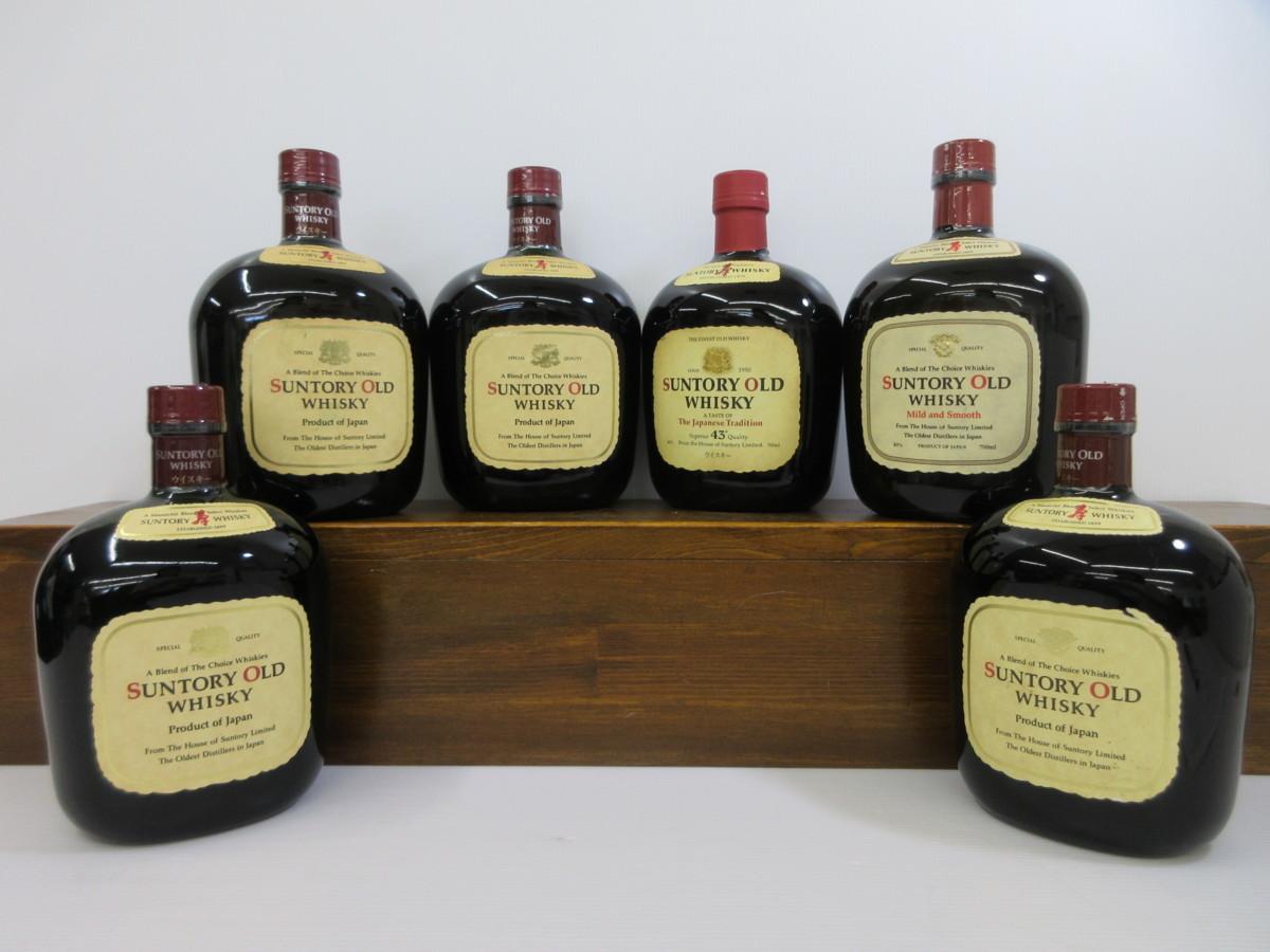 6本セット サントリー オールド SUNTORY WHISKY OLD 700ml-750ml 43% 国産ウイスキー 未開栓 古酒 発送先広島県限定 1円スタート/7-30-7