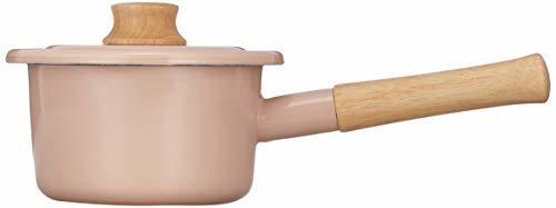 富士ホーロー(Fuji Horo) ピンク 富士ホーロー 片手鍋 ミルクパン コットンシリーズ アッシュ 14cm_画像2