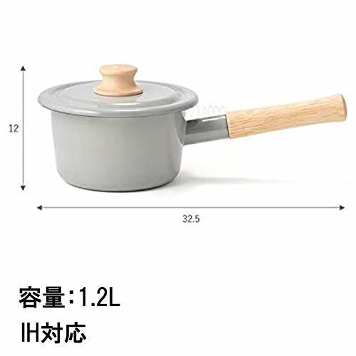 富士ホーロー(Fuji Horo) ピンク 富士ホーロー 片手鍋 ミルクパン コットンシリーズ アッシュ 14cm_画像5