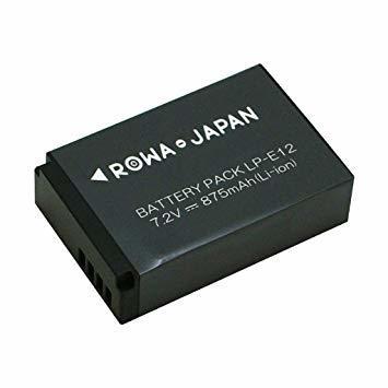 【国内向け日本規制検査済】Canon LP-E12 互換 バッテリー 残量表示 純正充電器対応 ロワジャパンPSEマーク付 【実_画像1