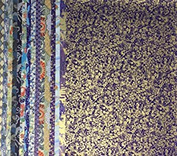新品 青色系Bセット15枚 【.co.jp 限定】和紙かわ澄 千代紙 友禅和紙 大判 38.5×53cmUS87_画像3